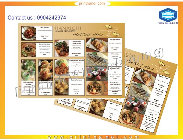 Cheap Printing Services menu | Personal Business Cards | Print Ha Noi