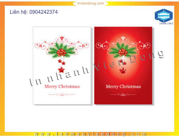 Print greeting Christmas cards | Double-sided Flyers in Ha Noi | Print Ha Noi