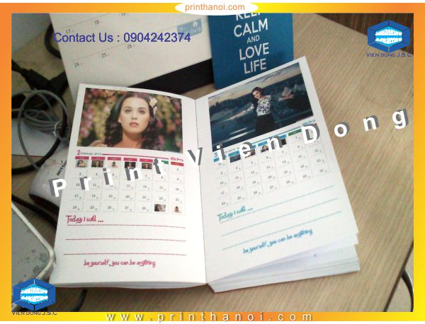Print calendar book in Hanoi-Vietnam |  Cheap Graduation Annoucement Printing | Print Ha Noi