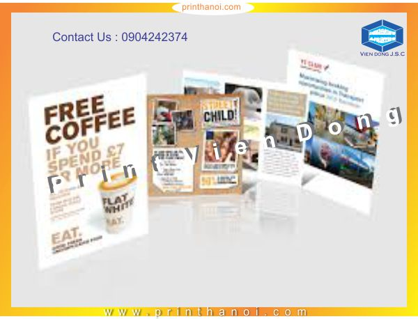 Print & design leaflet  | Print On All Materials | Print Ha Noi