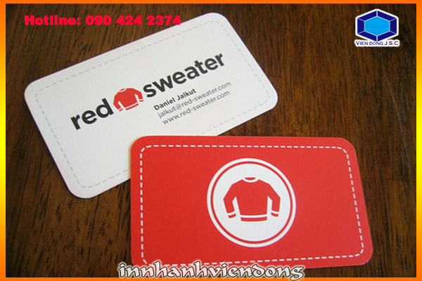 Rounded Corner Business Cards | Print wedding invitations | Print Ha Noi
