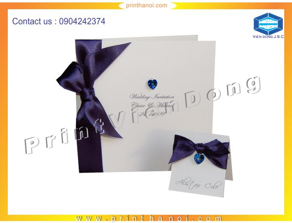 Print wedding invitations | Personal Business Cards | Print Ha Noi