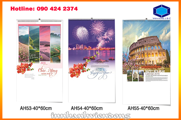 Print cheap wirebound wall calendar in Ha Noi | New models gift box in Ha Noi | Print Ha Noi