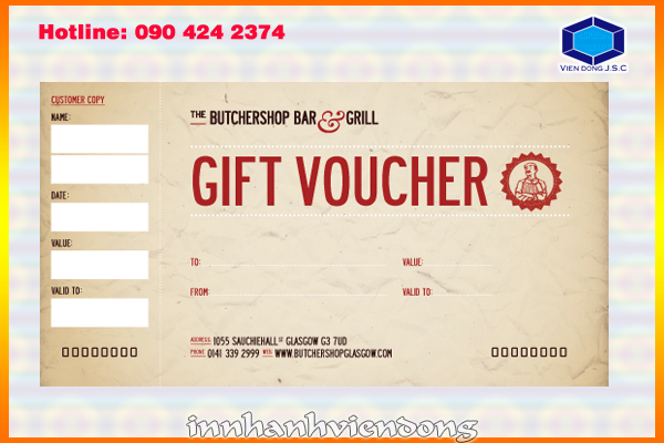 Print gift voucher in Ha Noi | Print digital photos | Print Ha Noi