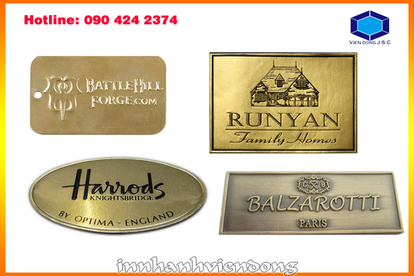 Making embossed metal labels in Ha noi | Printing Agenda | Print Ha Noi