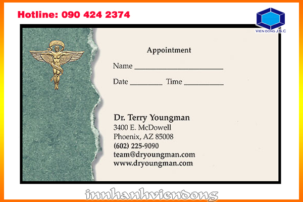 print cheap appointment card | Print Plastic Card | Print Ha Noi