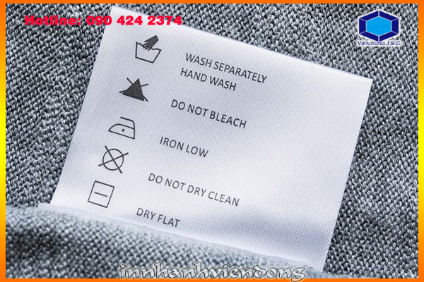 Print fabric label | print cheap appointment card | Print Ha Noi