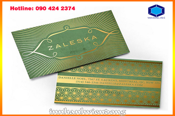 Foil business card and embossed business card | New models gift box in Ha Noi | Print Ha Noi