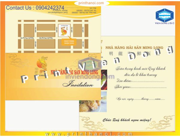 Cheap printing invitations in Hanoi | Print Brochures | Print Ha Noi