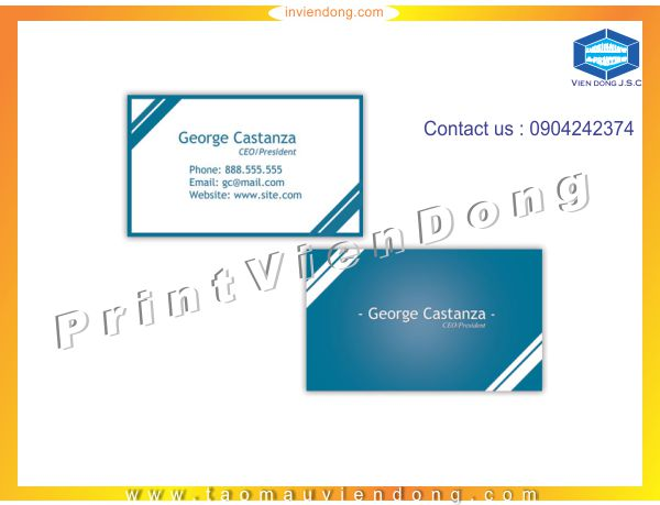 Cheap Folded Business Cards Printing | Fast printing menu | Print Ha Noi