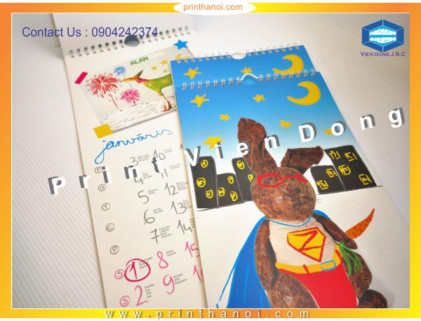Calendar Printing In Ha Noi | Cheap Greeting cards printing in Ha Noi  | Print Ha Noi