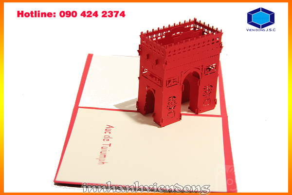 Print pop-up greeting card in Ha Noi | Print networking card in Hanoi | Print Ha Noi