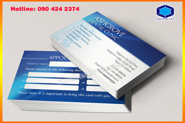 Appointment Cards in Ha Noi | Premium Business Cards  | Print Ha Noi