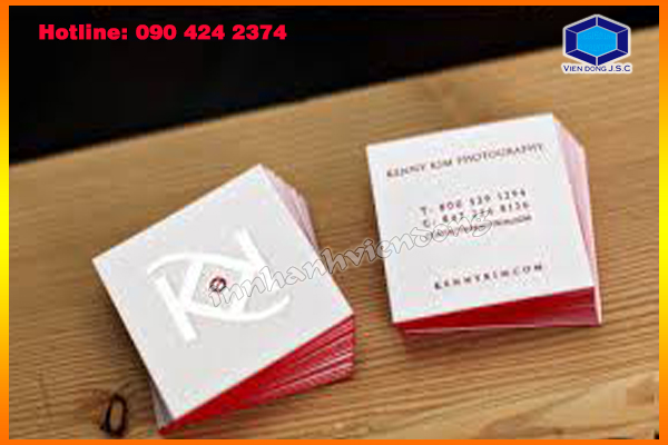 Square Business Cards at Ha Noi
