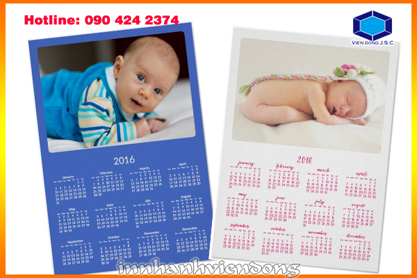 print calendar for your baby